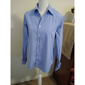 Size 8 Ralph Lauren blue/white button down